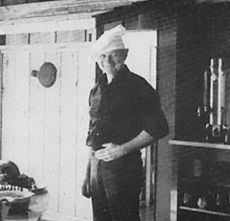 Historical photo of Yes Bay Lodge chef