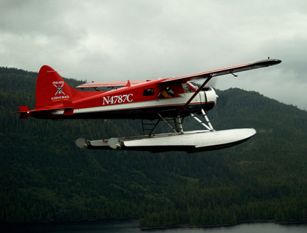 Seaplane in flight