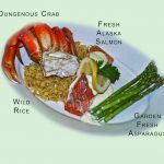 Labeled crab dinner plate